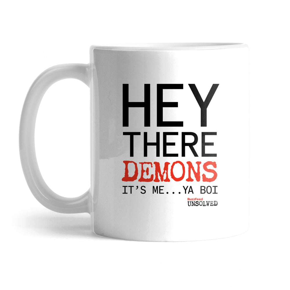 BuzzFeed Unsolved Hey There Demons It's Me Ya Boi Mug