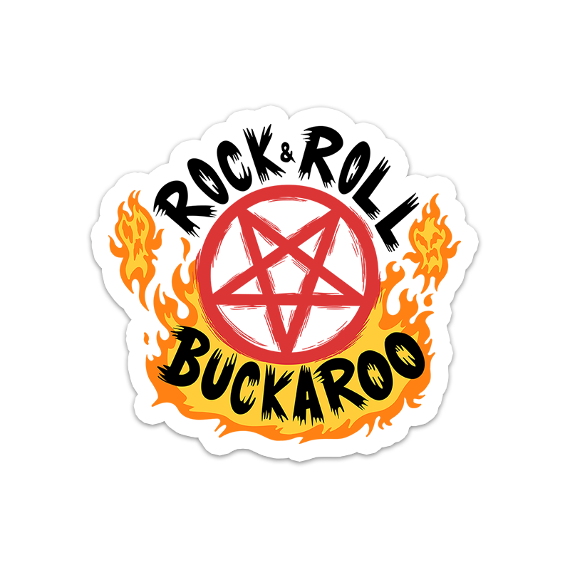 BuzzFeed Unsolved Rock & Roll Buckaroo Sticker