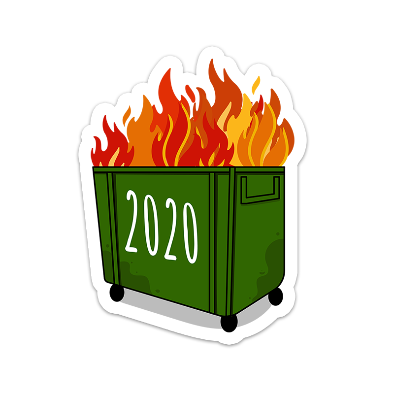 BuzzFeed 2020 Dumpster Fire Sticker