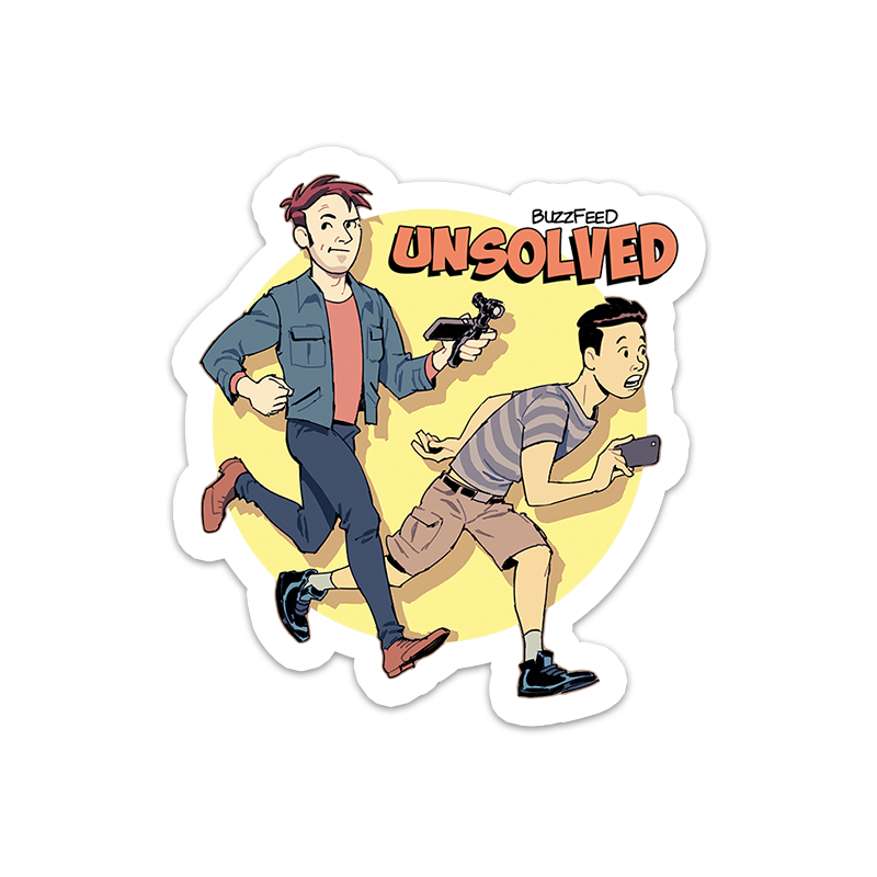 BuzzFeed Unsolved Saturday Morning Sticker