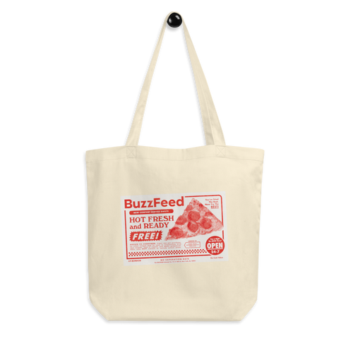 BuzzFeed Pizza Coupon Tote Bag