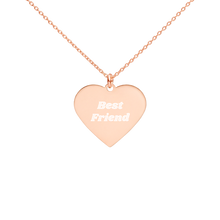 Load image into Gallery viewer, BuzzFeed Best Friend Best Friend Day Heart Necklace