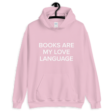 Load image into Gallery viewer, BuzzFeed Love Language Book Day Hooded Sweatshirt