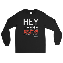 Load image into Gallery viewer, BuzzFeed Unsolved Hey There Demons It's Me Ya Boi Long Sleeve T-Shirt
