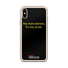 Load image into Gallery viewer, BuzzFeed Unsolved Hey There Demons 2.0 iPhone Case