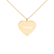 Load image into Gallery viewer, BuzzFeed Pizza Best Friend Day Heart Necklace