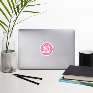 The Good Advice Cupcake Logo Sticker