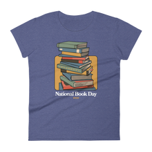 Load image into Gallery viewer, BuzzFeed Stack O' Books Book Day Women's T-Shirt