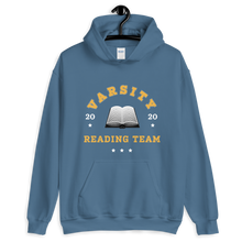 Load image into Gallery viewer, BuzzFeed Varsity Reading Team Book Day Hooded Sweatshirt