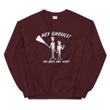 Load image into Gallery viewer, BuzzFeed Unsolved Hey Ghouls Sweatshirt
