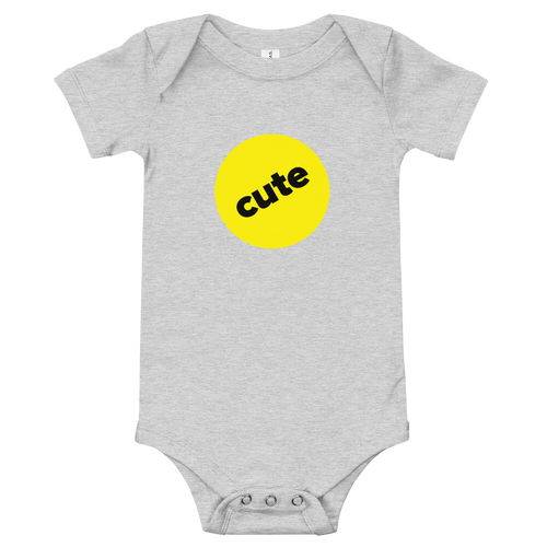 BuzzFeed Cute Badge Baby Onesie