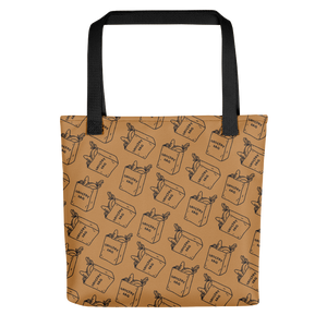 Eating Your Feed Grocery Bag Tote Bag