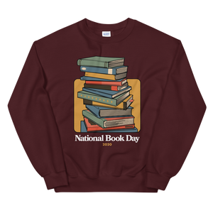 BuzzFeed Stack O' Books Book Day Sweatshirt