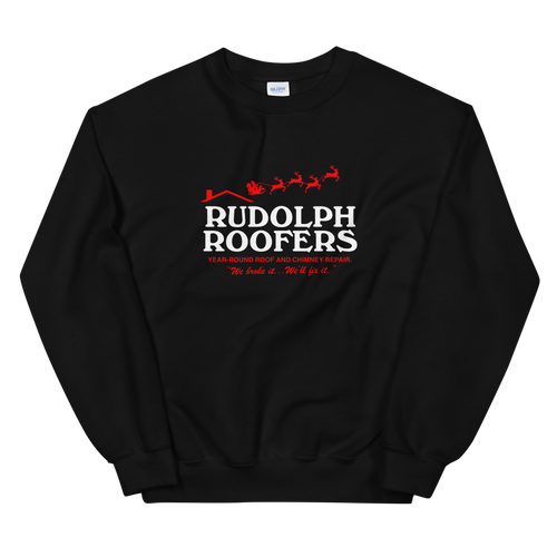 BuzzFeed Rudolph Roofer Ugly Holiday Sweater Sweatshirt