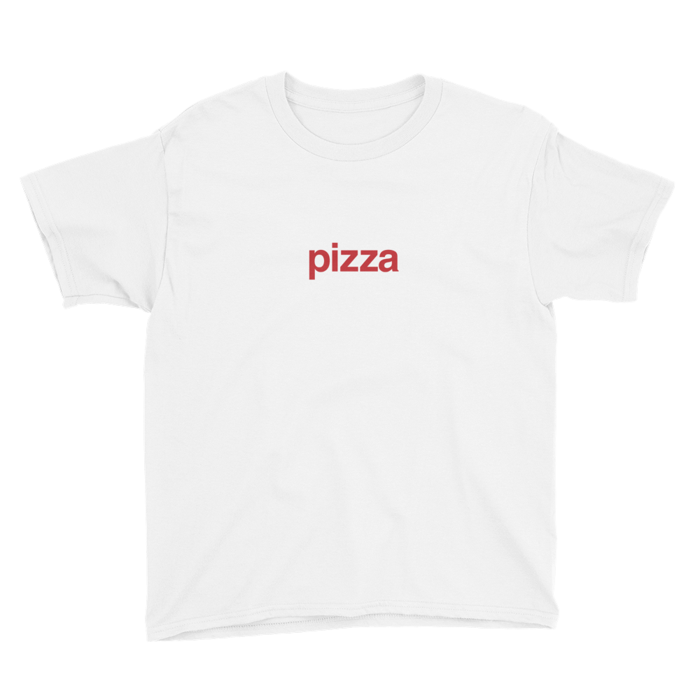BuzzFeed Pizza Red Best Friend Day Youth T-Shirt