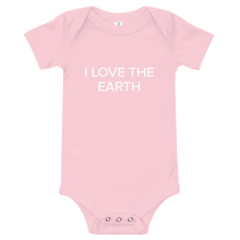 Load image into Gallery viewer, BuzzFeed I Love The Earth Earth Day Baby Onesie