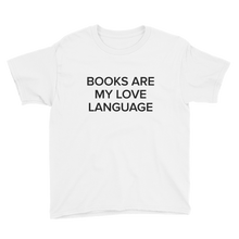 Load image into Gallery viewer, BuzzFeed Love Language Book Day Youth T-Shirt