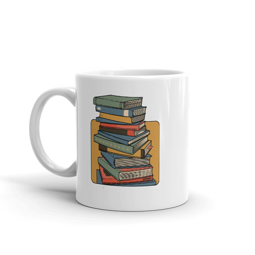 BuzzFeed Stack O' Books Book Day Mug