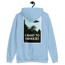 Load image into Gallery viewer, BuzzFeed Unsolved I Want To (wheeze) Two Sided Hooded Sweatshirt