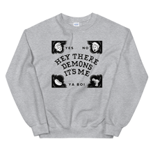 Load image into Gallery viewer, BuzzFeed Unsolved Hey There Demons Board Sweatshirt