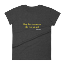 Load image into Gallery viewer, BuzzFeed Unsolved Hey The Demons Girl 2.0 Women's T-Shirt