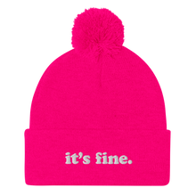 Load image into Gallery viewer, Kelsey Dangerous It's Fine Pom Pom Winter Hat