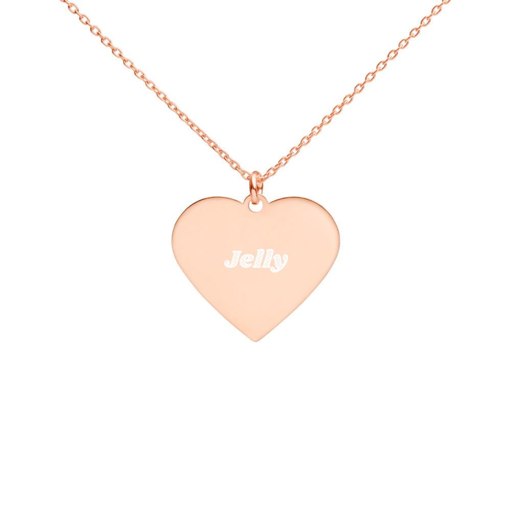 BuzzFeed Jelly Best Friend Day Heart Necklace