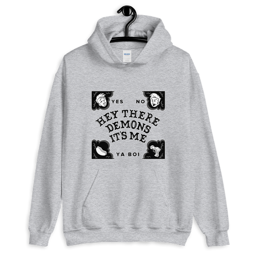 BuzzFeed Unsolved Hey There Demons Board Hooded Sweatshirt