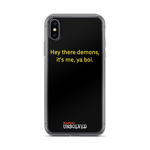 BuzzFeed Unsolved Hey There Demons 2.0 iPhone Case