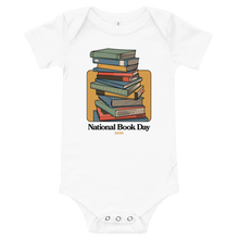 Load image into Gallery viewer, BuzzFeed Stack O' Books Book Day Baby Onesie