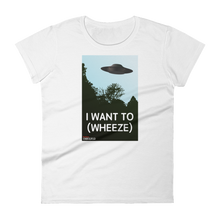 Load image into Gallery viewer, BuzzFeed Unsolved I Want To (wheeze) Women's T-Shirt