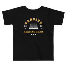 Load image into Gallery viewer, BuzzFeed Varsity Reading Team Book Day Toddler T-Shirt