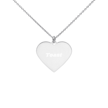 Load image into Gallery viewer, BuzzFeed Toast Best Friend Day Heart Necklace