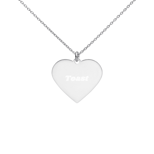 BuzzFeed Toast Best Friend Day Heart Necklace