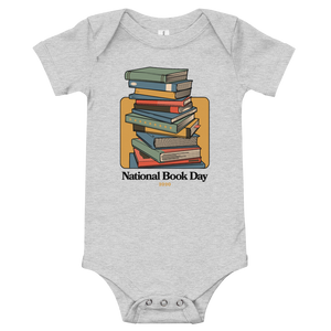BuzzFeed Stack O' Books Book Day Baby Onesie