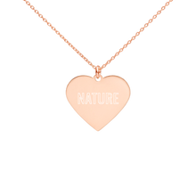 Load image into Gallery viewer, BuzzFeed Nature Earth Day Heart Necklace