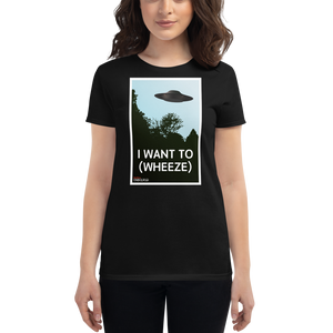 BuzzFeed Unsolved I Want To (wheeze) Women's T-Shirt