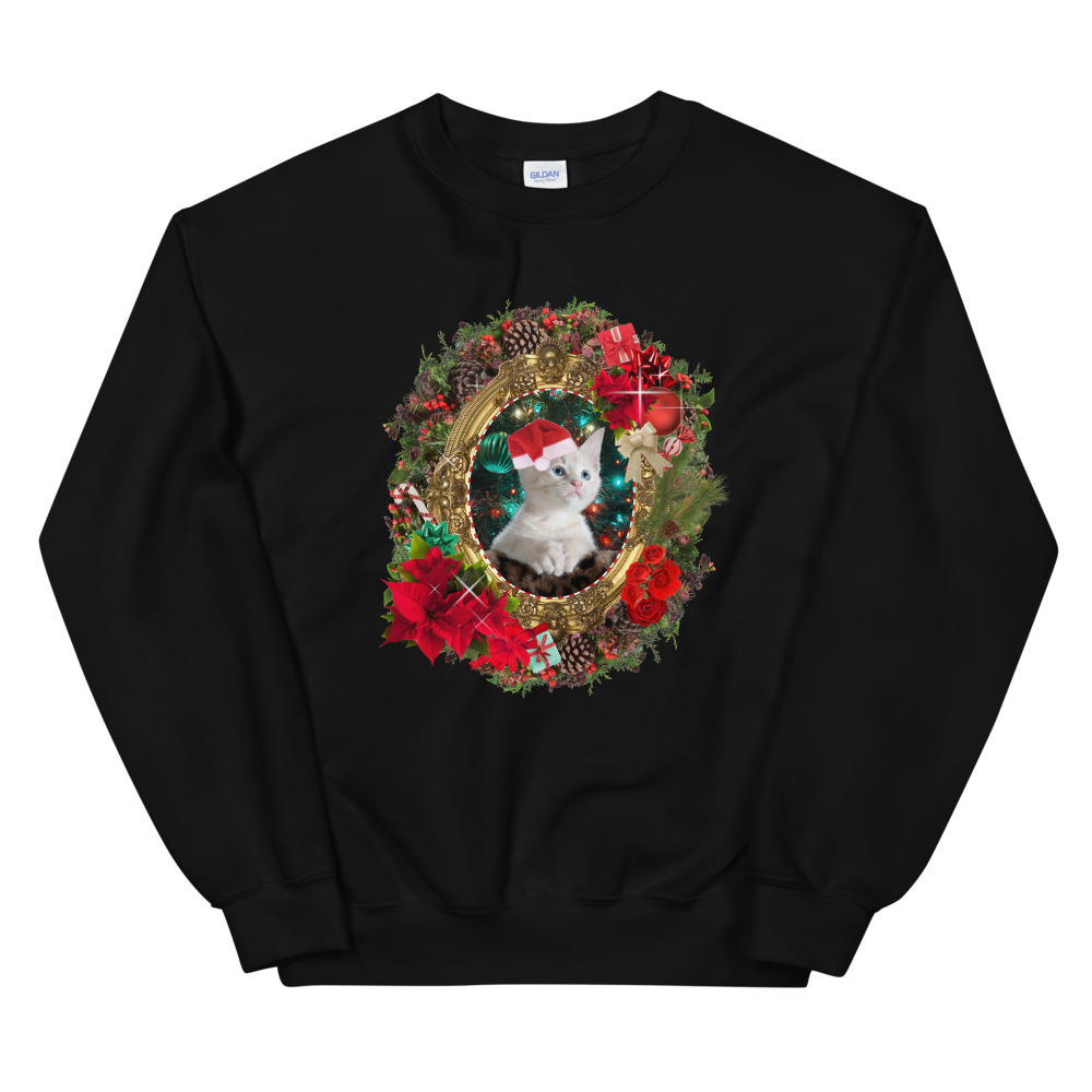 BuzzFeed Kitten Portrait Ugly Holiday Sweater Sweatshirt