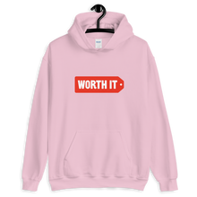 Load image into Gallery viewer, Worth It Logo Hooded Sweatshirt