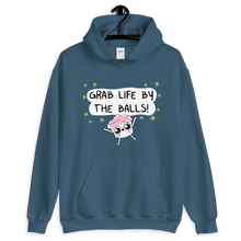 Load image into Gallery viewer, The Good Advice Cupcake Grab Life By The Balls Hooded Sweatshirt