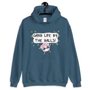 The Good Advice Cupcake Grab Life By The Balls Hooded Sweatshirt