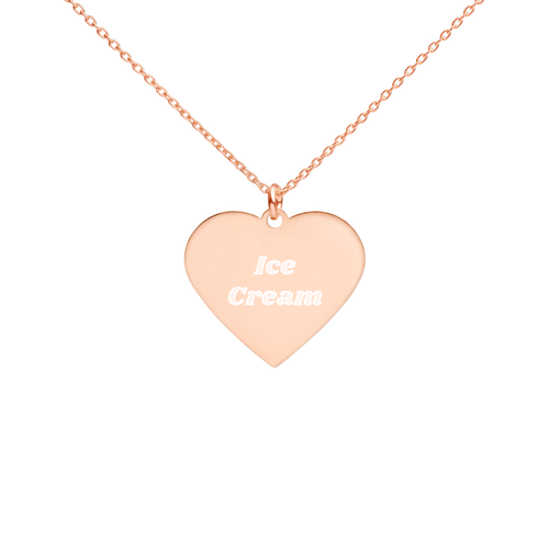 BuzzFeed Ice Cream Best Friend Day Heart Necklace