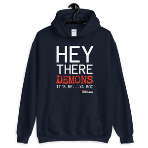 BuzzFeed Unsolved Hey There Demons It's Me Ya Boi Hooded Sweatshirt