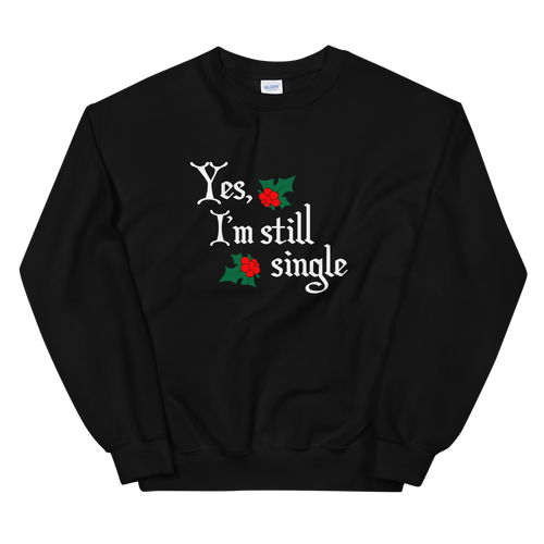 BuzzFeed Still Single Ugly Holiday Sweater Sweatshirt