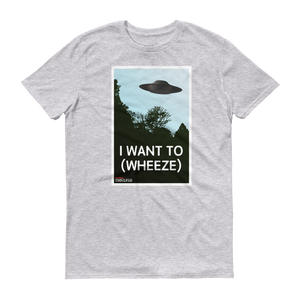 BuzzFeed Unsolved I Want To (wheeze) T-Shirt