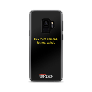 BuzzFeed Unsolved Hey There Demons 2.0 Samsung Phone Case