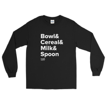 Load image into Gallery viewer, Tasty Cereal Recipe Long Sleeve T-Shirt