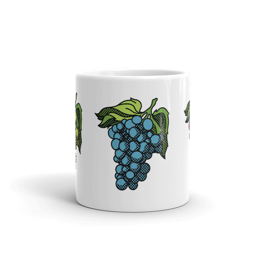 BuzzFeed Grapes Wine Day Mug