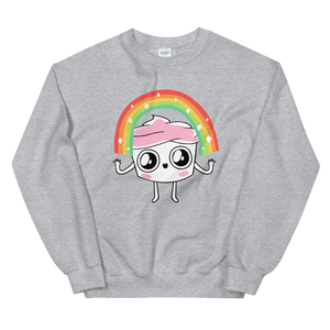The Good Advice Cupcake Rainbow Sweatshirt