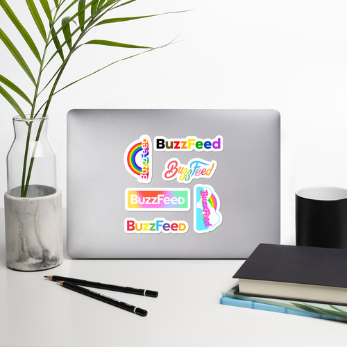 BuzzFeed Pride Logo Sticker Sheet Set